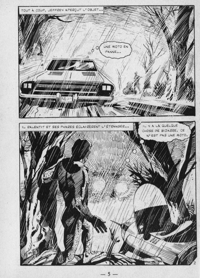 """A page from the 1975 French graphic novel """"A travers Les ages"""""""