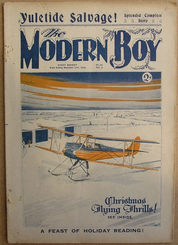 The Modern Boy No. 98, cover dated 21st December 1929. Cover by Biggles creator W.E. Johns