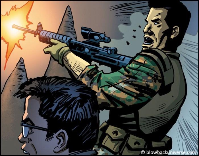 Blowback Graphic Novel Sample Art