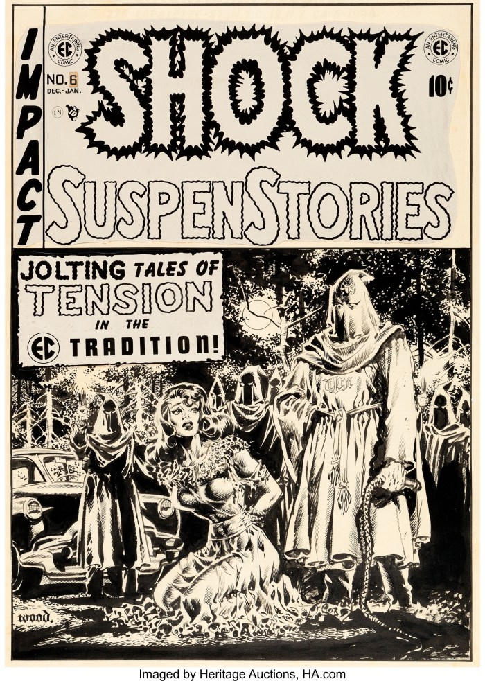 The art for the cover of Shock SuspenStories No. 6 by Wally Wood