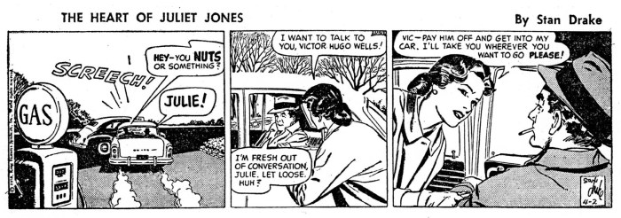 An episode of The Heart of Juliet Jones by Stan Drake, drawn by Tom Sawyer, published in 1958