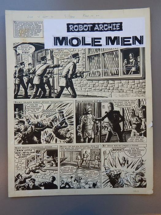"""""""Robot Archie - The Mole Men"""" - (1964) by Edward """"Ted"""" Kearon"""