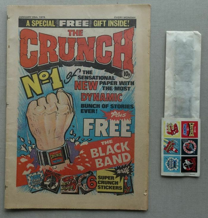 Crunch No. 1, cover dated 20th January 1979, with free gift