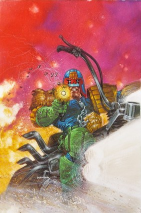 Cover art by Judge Dredd Legends of the Law #1
