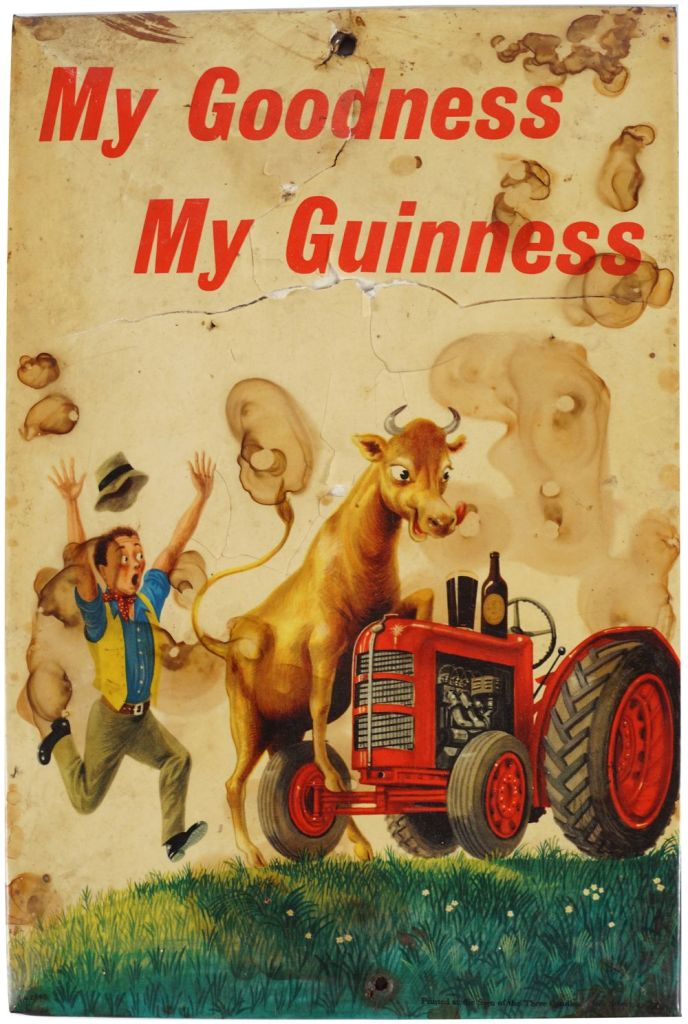 My Goodness, My Guinness metal sign
