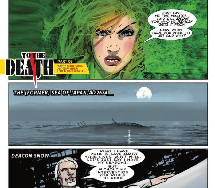 """SHIFT #5 - """"To The Death"""" by Simon Furman, art by Geoff Senior, lettered by Martin Baines"""