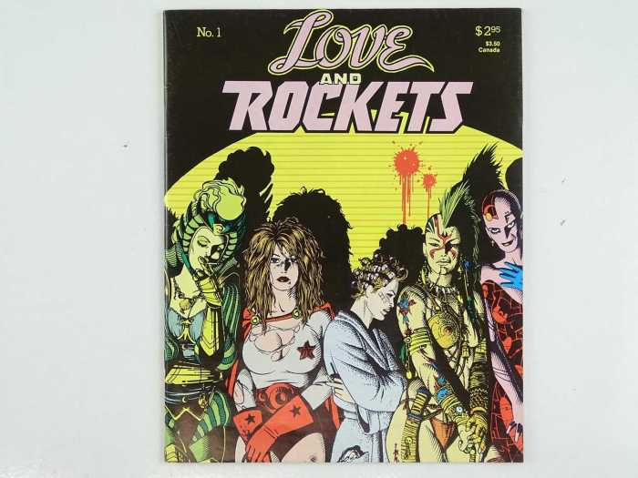 LOVE AND ROCKETS #1 - (1982 - Fantagraphics Books) Cult Classic Comic Book - Jaime Hernandez cover with a Gilbert Hernandez back cover and interior art by both Jaime & Gilbert