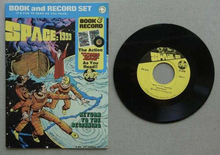 Space 1999 Book and Record Set (1976) Power Records Comic ATV