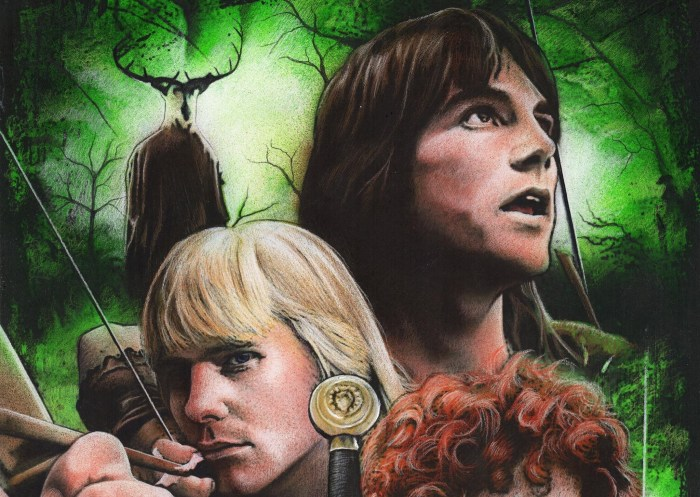 Robin of Sherwood Annual 1987 Preview Art