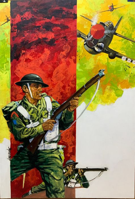 Art by Fernando Fernández, used as the cover of Battle Picture Library No. 330, commissioned through  Selecciones Ilustradas in 1974