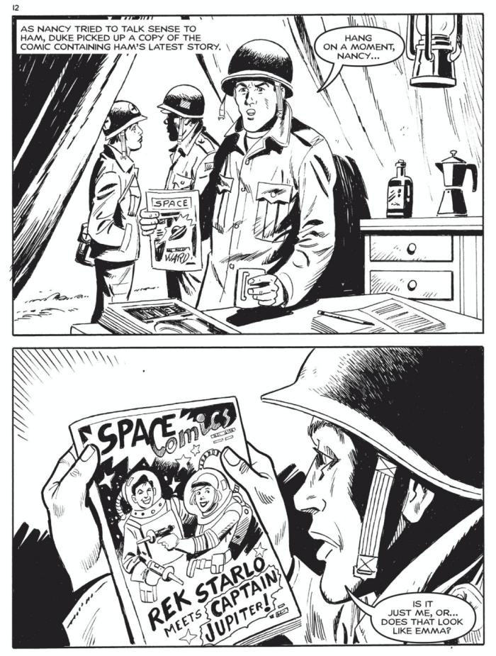 Commando 5461: Action and Adventure - Into the Vortex - Sample Art