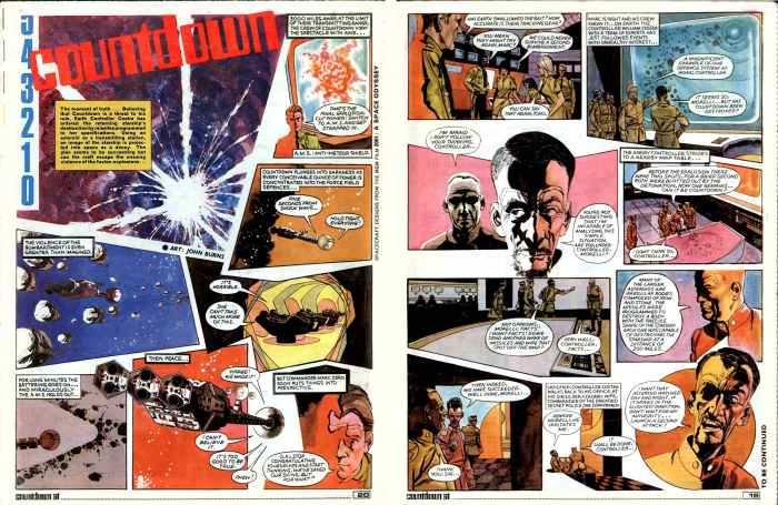 """""""Countdown"""", from the comic of the same name - art by John M. Burns"""