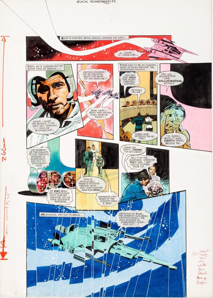 """""""Buck Rogers in the 25th Century"""", for Look-In (1981) - art by John M. Burns"""