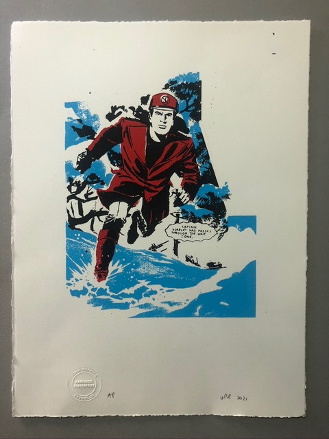 Gerry Anderson Limited Edition Print by john Patrick Reynolds - Captain Scarlet