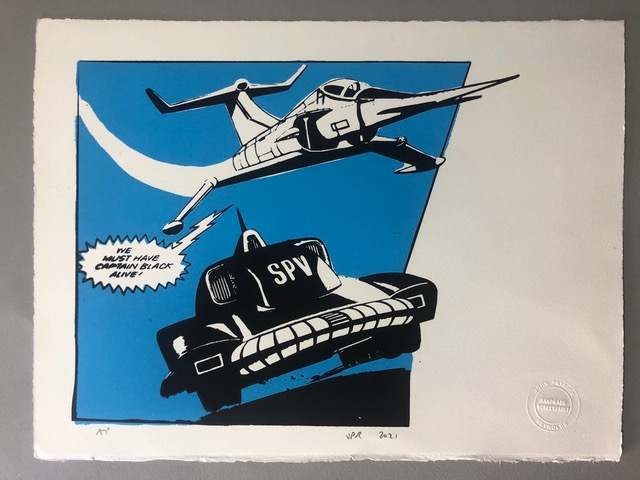Gerry Anderson Limited Edition Print by john Patrick Reynolds - Angel Interceptor and Captain Scarlet