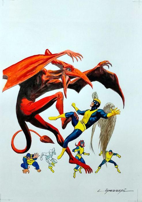 Classic X-Men cover recreation by Rafael López Espí (2020)