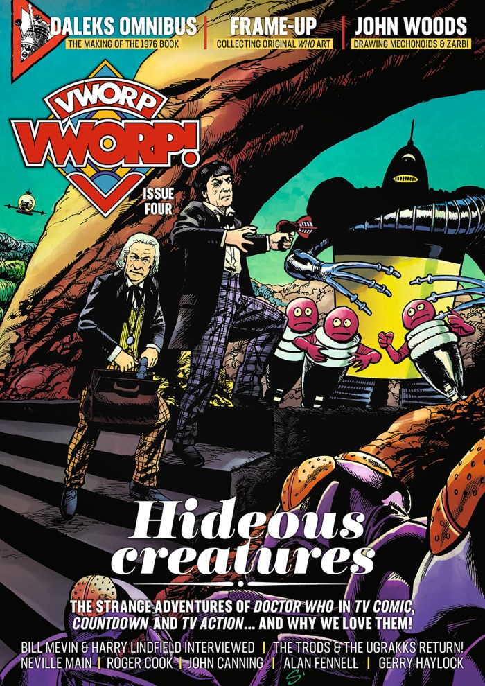 Vworp Vworp! Issue Four, Cover A. Art by Stephen B Scott, colours by Andrew Orton - Final