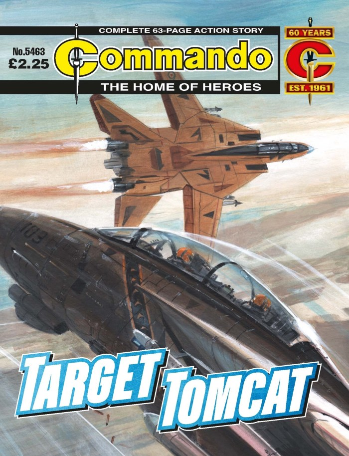 Commando 5463: Home of Heroes - Target Tomcat - cover by Keith Burns