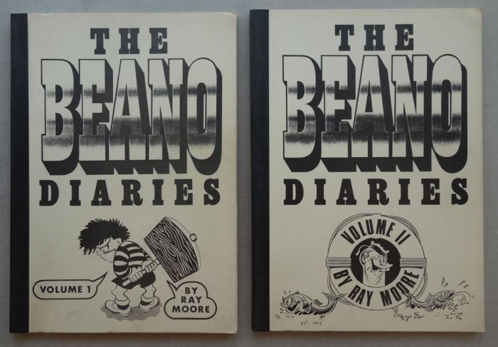 Beano Diaries Volumes 1 and 2 (1991) - Comic Reference Guides  by Ray Moore