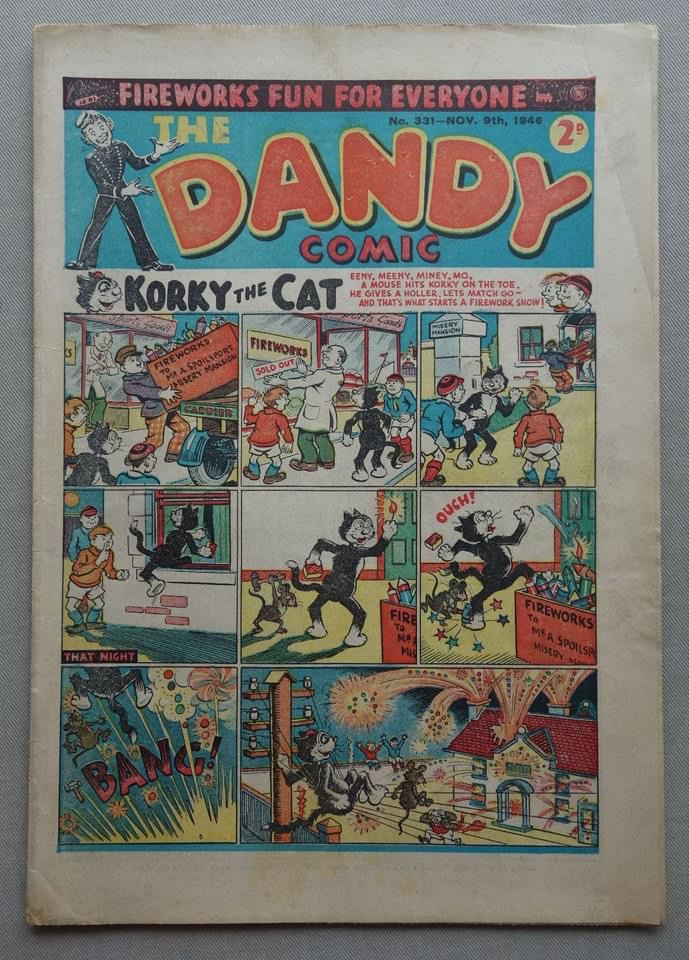 The Dandy No. 331, fireworks issue, cover dated 9th November 1946