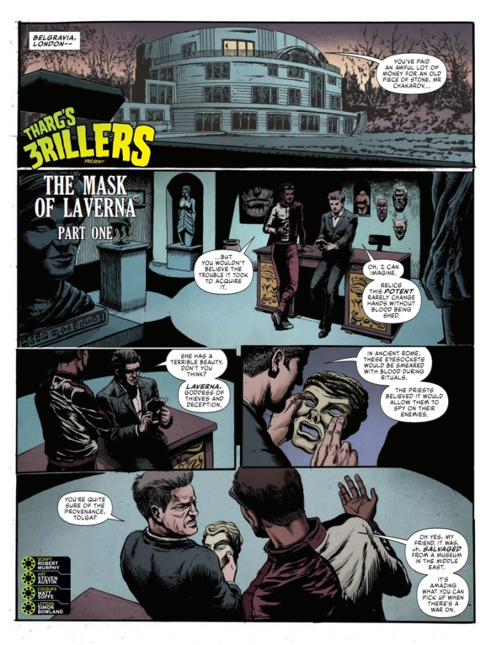 2000AD Prog 2247 - Tharg's 3rillers present The Mask of Laverna