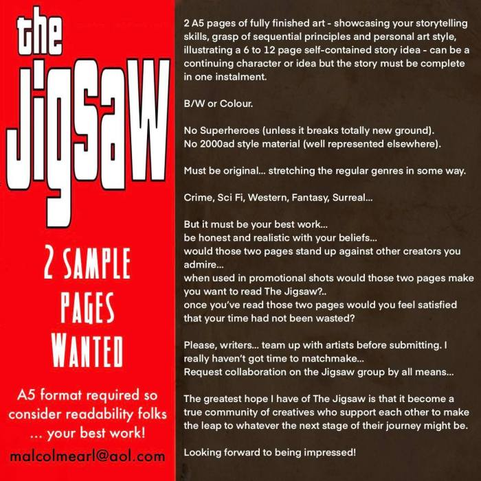 The Jigsaw - Anthology Project by Mal Earl - Specification