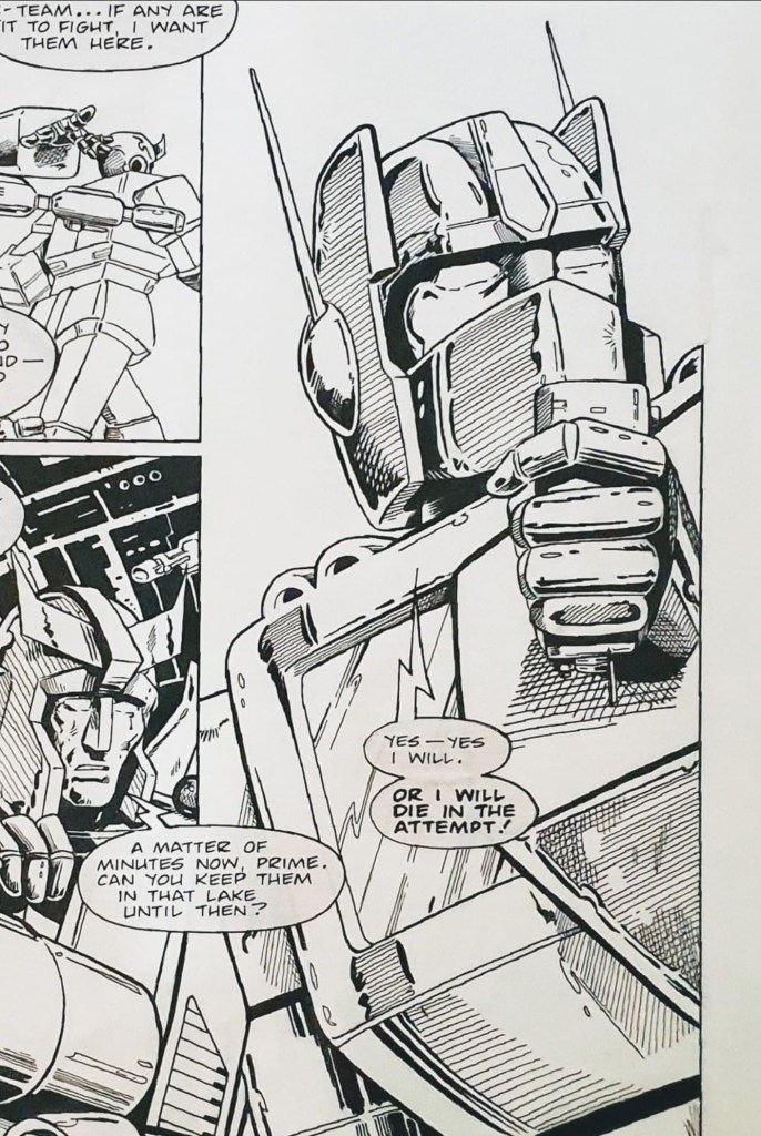 Transformers by Simon Furman and Barry Kitson, for Marvel UK