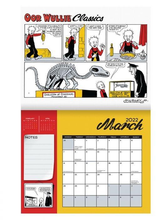 Oor Wullie Calendar 2022 - Sample