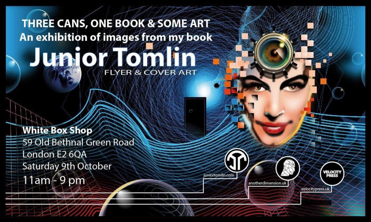 Junior Tomlin one-day art exhibition hits London this weekend