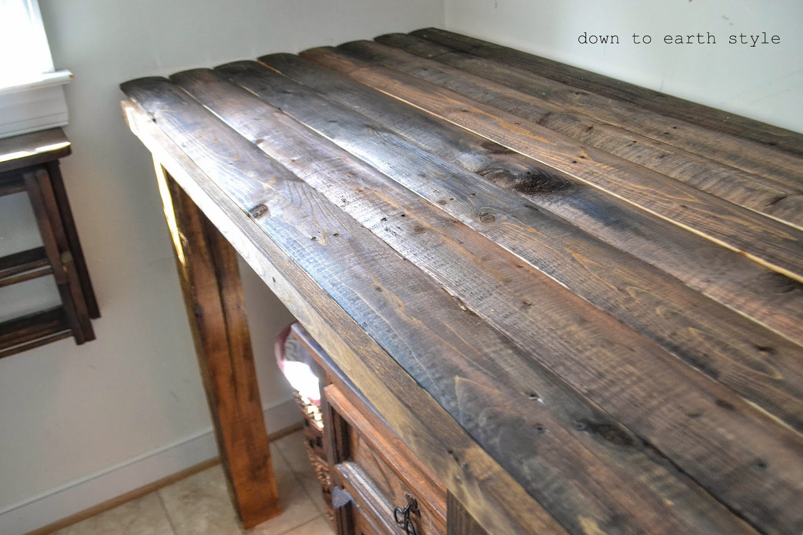 - Old Fence Features In The Laundry Room - Down To Earth Style