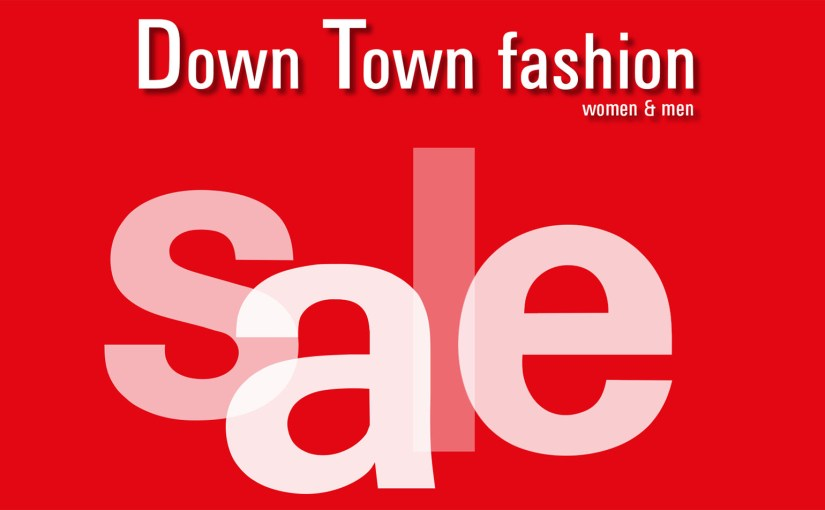 Down Town Fashion Karte Sale 2018