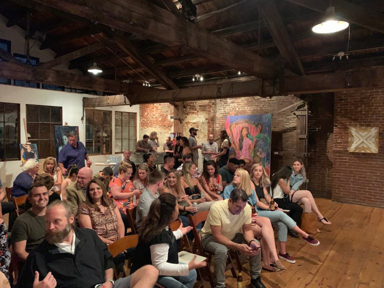 """The crowd at our """"Break"""" release party."""