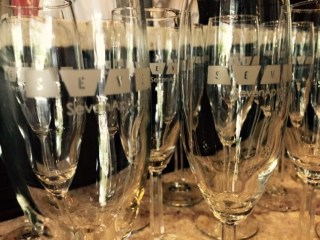 Champagne glasses from Seven