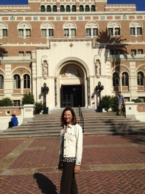 Nick took this photo of me when I went with him to USC Orientation Day