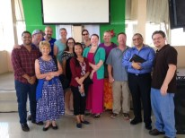 Our group of volunteers with the church pastor