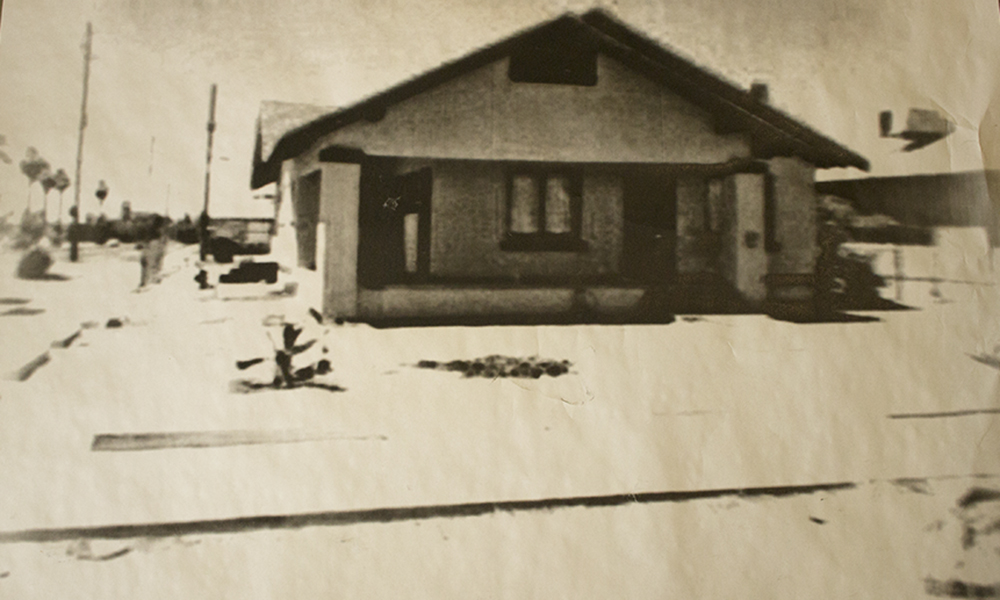 An old black and white print of the 1917 Bungalow before it was turned into the Roosevelt Growhouse (Craig Johnson/DD)