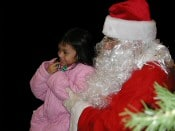 Photo op with Santa Claus