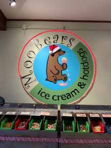 MooBears Ice Cream logo with Santa Hat in Ellijay, GA