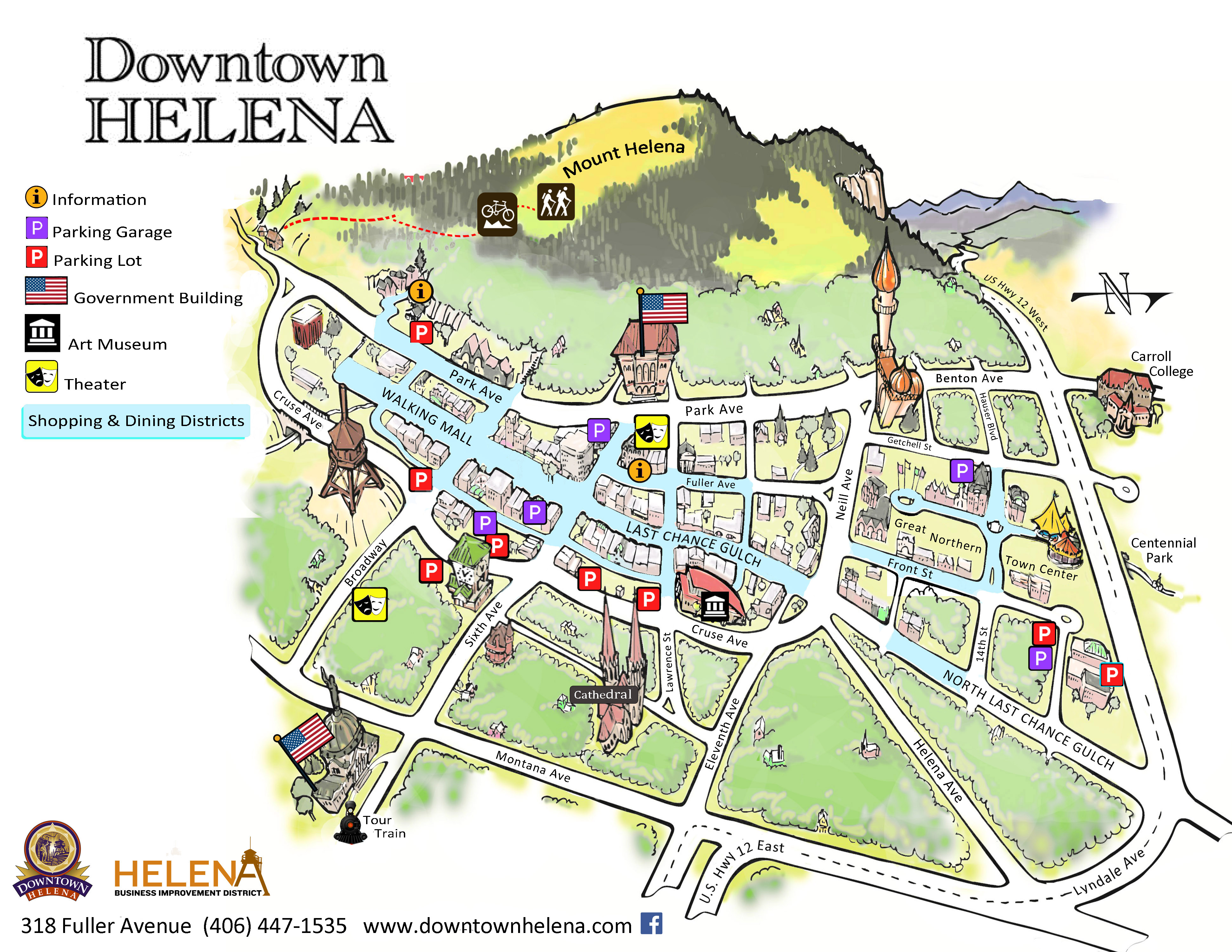 downtown map   Downtown Helena