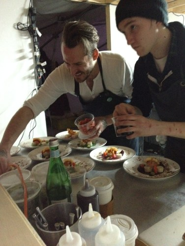 Sneaking a peek into the RAW Almond 2014 kitchen while Chef Scott Bagshaw is cooking