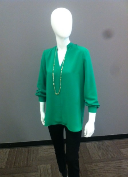 For the understated - green Lord & Taylor gear at the Bay