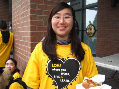 "My name is Evian Liang, I am from China. I've been in Canada for seven months. I live in Surrey. I volunteered in the ""Community Clean-up"" program.This is the first time I was a volunteer. I felt excited, because I could contribute to my city where I live. This volunteering keeps the street clean, and makes everyone happy."