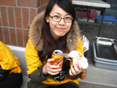 "My name is Lina. I come from China. I have been in Canada for 14 months. I volunteered in the ""Community Clean-up"" program. I enjoyed it because I live in Surrey, I love my city. Making the city clean is the responsibility of everyone who lives in it. It is a very good experience in my life."