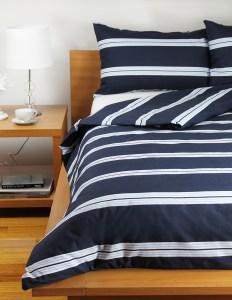Commercial Quilt Cover - Hudson Stripe Navy