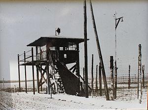 English: watchtower in Stalag IV-B Deutsch: Wa...