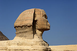 Profile of the Great Sphinx of Giza. Français ...