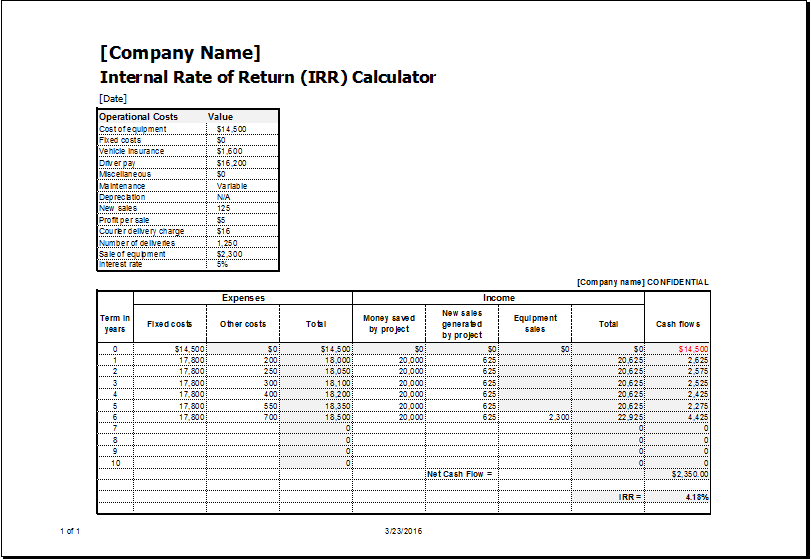 Financial Business Calculator Templates For EXCEL