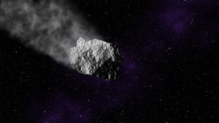 An artists rendering of an asteroid.