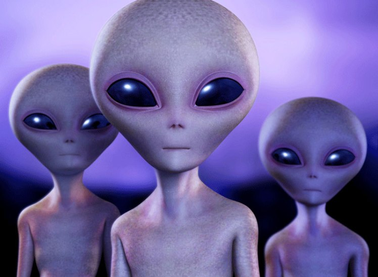 An artist rendering of gray aliens