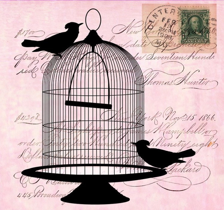 An artists rendering of a birdcage.
